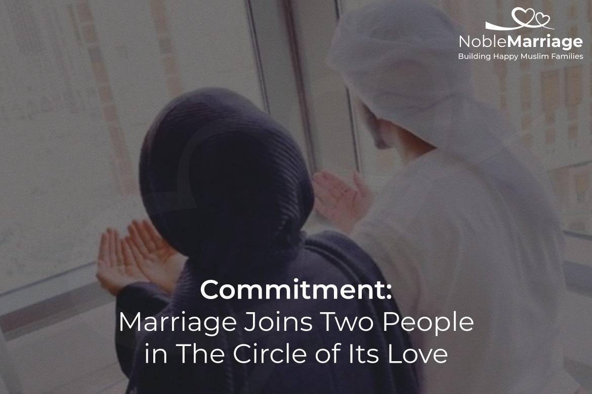 marriage joins two people in the circle of its love